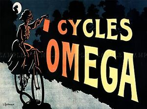 COMMERCIAL-ADVERT-OMEGA-CYCLES-FRANCE-POSTER-ART-PRINT-HOME-PICTURE-BB1958A