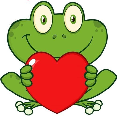30 Custom Heart Frog Personalized Address Labels