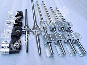 2x SBR16--250mm Linear Rail/&RM1605--250mm Ballscrew /&BF12//BK12 /&  Coupling