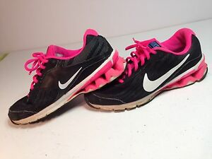 a5caad41e9a821 Details about 💗EUC💗 NIKE Reax Run 9 Women s Running Shoes Black Pink Sz 8  M 653612-001
