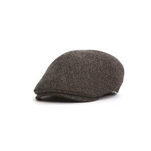 498b804358 Details about Unisex Mens Womens Tweed Newsboy Flat Cap Cabbie Baker Boy  Ivy Gatsby Hats Khaki
