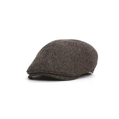 Unisex Mens Solid Color Flat Cap Newsboy Baker Boy Cabbie Ivy Driver Gatsby Hats
