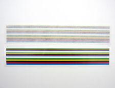 Velobitz Vintage World Champion Stripes, Quality Vinyl Decal with White Edge