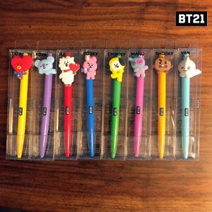 BTS-BT21-Official-Authentic-Goods-Gel-Pen-Active-Ver-8SET-CHIMY-COOKY-TATA-Etc