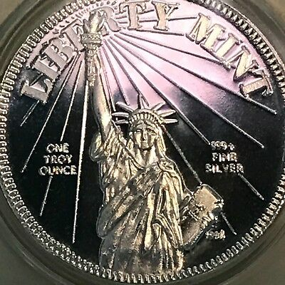 Mercury Dime Winged Liberty Tribute 1 oz .999 Silver .39mm Art Medal Round