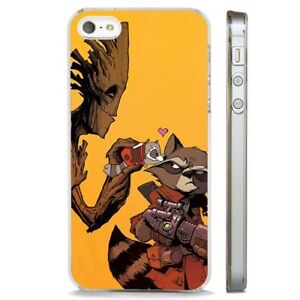 Dettagli su Rocket Raccoon Gardians Galassia Chiaro Telefono Custodia Cover si adatta iPhone 5 6 7 8 X- mostra il titolo originale