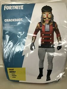 Fortnite Crackshot Adult Size Small S Halloween Costume In Hand