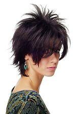perruque Noir Cheveux courts perruque wilde Mèches Style des années 80 Wave Punk
