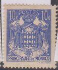 (OI-120) 1924 Monaco 10c blue (AB)