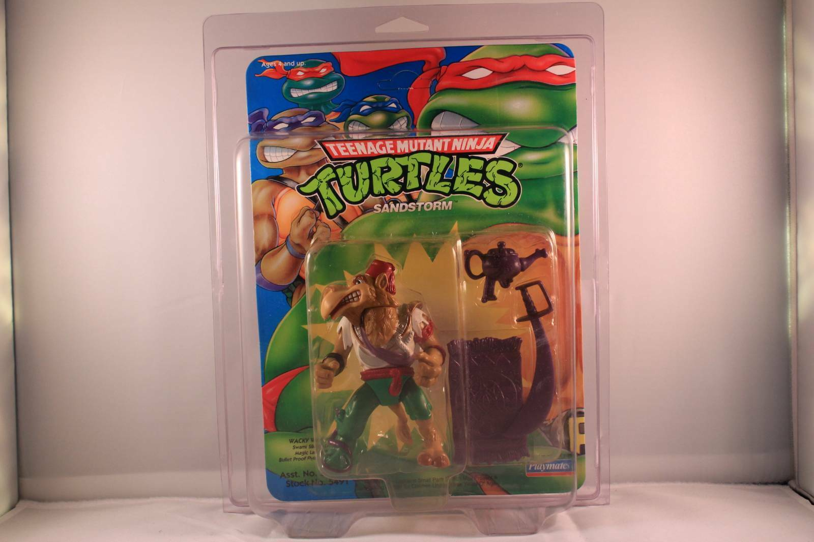 TMNT 1992 SANDSTORM blueE CARD UNPUNCHED MOC (WATCH THIS SPACE)