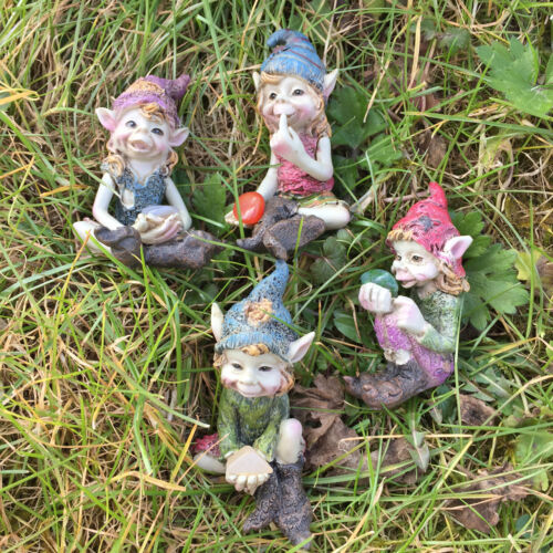 Pixie Small Children Set of 4 Garden Magic Decor Indoor Outdoor Fairy Gift 39122
