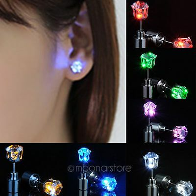 1Pair Mädchen Unisex Ohrstecker LED light Ohrschmuck Mode Ear Studs Earrings