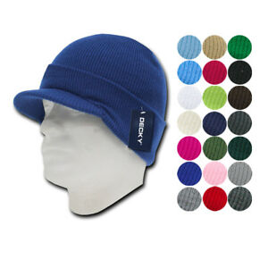 011f0274 Decky Beanies GI Jeep Caps Hats Visor Ski Thick Warm Winter Skully ...
