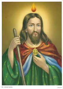Catholic-Print-Picture-ST-JUDE-THADDEUS-7-1-2-x-10-034-ready-to-be-framed