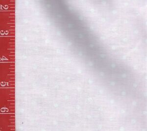 """PASTEL PINK polka dot COTTON fabric Quilt & Sew DOLLS 44""""W by the 1/2 YARD"""