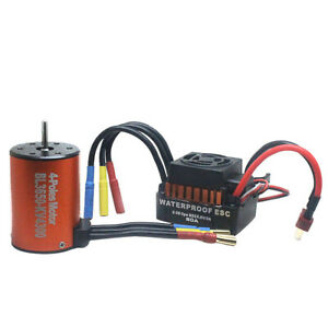 Brushless-Motor-Wasserdicht-B3650-4300KV-w-60A-ESC-Combo-Set-Fuer-1-10-RC-Auto