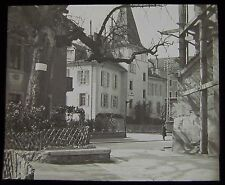 Glass Magic Lantern Slide MORAVIAN SCH LAUSANNE DATED MARCH 1906 SWITZERLAND