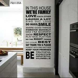 Image Is Loading Quote We Are Family In This House Wall  Awesome Ideas