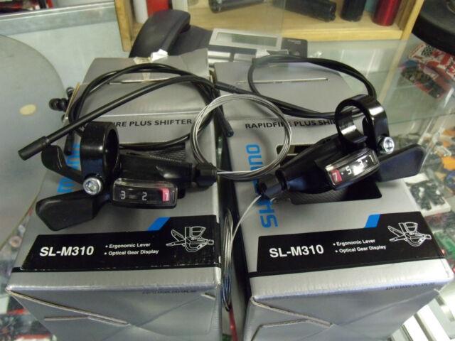 SHIMANO SL-M310 ALTUS RAPID FIRE 3 X 7 SPEED BLACK BICYCLE SHIFTER SET