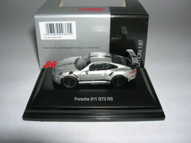 White W Red Porsche 911 Gt3 Rs Schuco 1 87 Ho Scale Die Cast