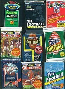 100-Unopened-Vintage-NFL-Football-Cards-in-factory-Sealed-Wax-Packs