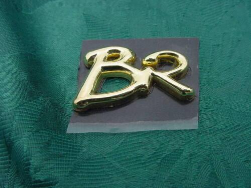 """FORMULA BR BOW RIDER BOAT EMBLEM BADGE LOGO /"""" BR /"""" GOLD HULL SIDE DASH AREA"""