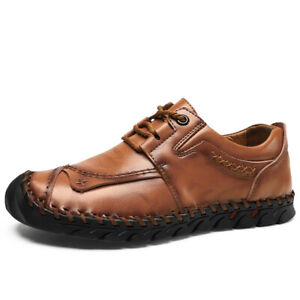 Mens-Casual-Loafers-Leather-Breathable-Slip-On-Moccasins-Lazy-Driving-Soft-Shoes