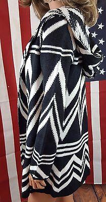 CARDIGAN Hooded Boho Beachy Cozy Cowgirl Gypsy Western Sweater Large