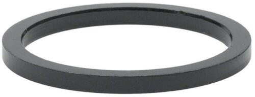 "Wheels Manufacturing 2.5mm 1-1//8/"" Headset Spacer Black Bag//5"