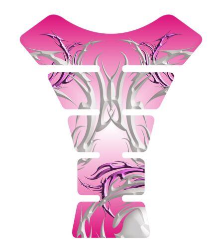 Tribal Pink #2 3D Gel Motorcycle Gas Tank Pad tankpad Protector