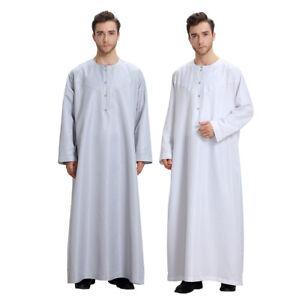 Thobe-Jubba-Mens-Saudi-Style-White-Arab-Robe-Islamic-Clothing-Robe-Garment-Dubai