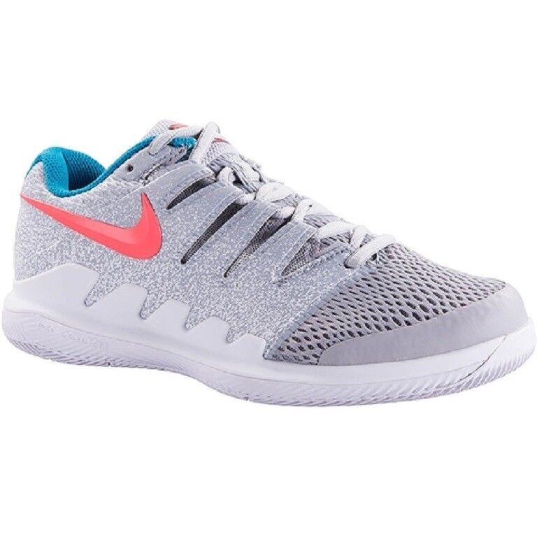 Nike vapor - x - hc tennis - frauen schuhe (wolf / heiße lava grau / weiß) aa8027-064