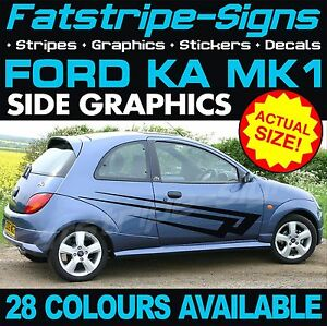 FORD KA MK2 GRAPHICS CHECKER ROOF CAR STRIPES DECALS STICKERS ST STREET SPORT RS