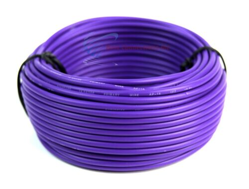 7 Rolls 18 Gauge 50 Feet Remote Primary Trailer Wire LED Power Cable Audiopipe