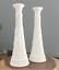 "thumbnail 1 - Set of 2 Vintage Anchor Hocking 1071 Pressed White Milk Glass Bud Vase 9"""