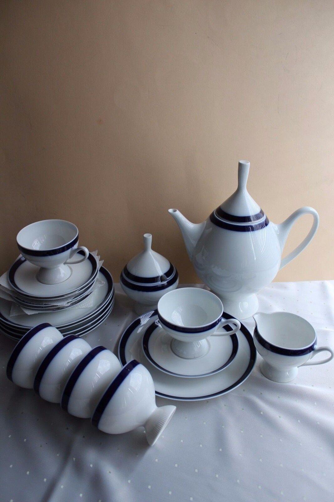 Krautheim Kaffeeservice in Echt Kobalt für 6 Personen Personen Personen | Auktion  c4ee5e