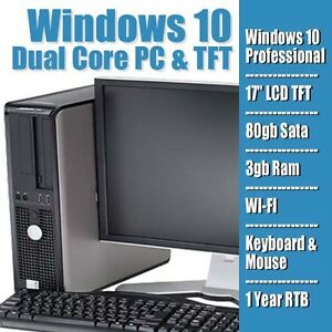 FULL-DELL-HP-DUAL-CORE-DESKTOP-TOWER-PC-amp-TFT-COMPUTER-SYSTEM-WINDOWS-10-amp-3GB