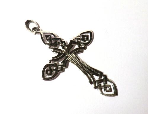 großer Kreuz Anhänger Keltisch 925 Sterling Silber Schmuck Neu Celtic Gothic