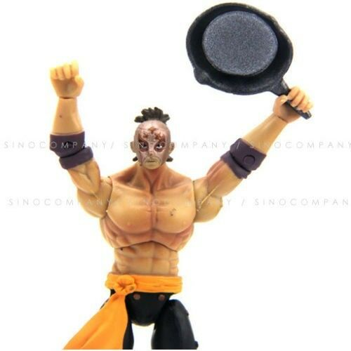 """Boys Gift JAZWARES STREET FIGHTER EL FUERTE 4/""""ACTION FIGURE FW213 WITH WEAPON"""