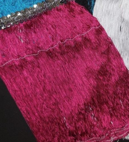 "NWT Dance 15/"" Fringe Skirt Silver Sequin Waistband 5 Color Choices Ladies//Girls"
