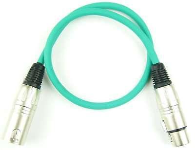 Kabel & Verbindungen GroßZüGig 0,5 M Mikrofonkabel Adam Hall K3 Mmf 0050 GrÜn Xlr Xlr 3 Pol Dmx Mikrofon Kabel SchöNe Lustre