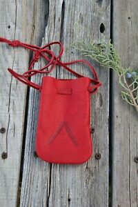 Leather-drawstring-pouch-Leather-medicine-bag-Crystal-pouch