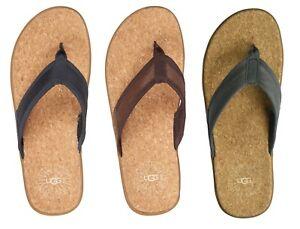 27cdad233d1 NEW UGG Mens Seaside Beach Flip Flop Thong Slipper Shoes Sandals 8 9 ...
