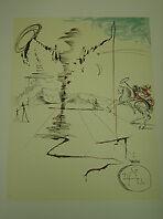 "Dali Lithograph /"" Chevalier /"" Plate-Signed"