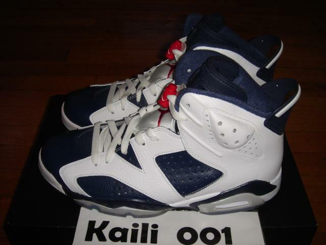 Nike Air Jordan 6 Retro Olympic Infrared DB bluee 384664-130 A