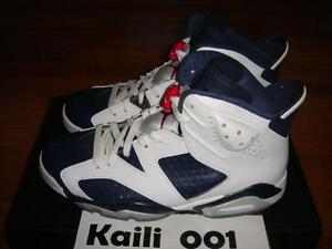 reputable site a3f1f 9d108 Image is loading Nike-Air-Jordan-6-Retro-Olympic-Infrared-DB-