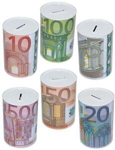 EURO-SPARDOSE-Metall-Geldkassette-Sparschwein-Spardose-Sparbuechse-Dose-GROSS