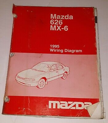 1995 mazda 626 mx6 wiring diagram manual free shipping  ebay