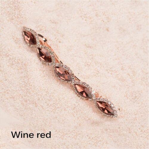 accessoires metall party crystal haarspange haar spangen rosa haarnadel