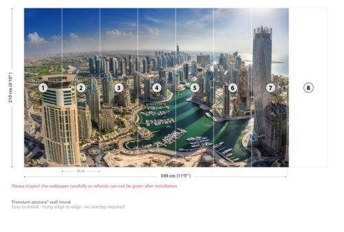 Dubai City Skyline Wall Mural Wallpaper WS-42498